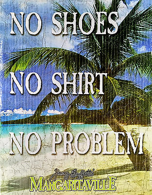No Shirt, Shoes No Problem Jimmy Buffett Margaritaville Photo Print Poster 11x14