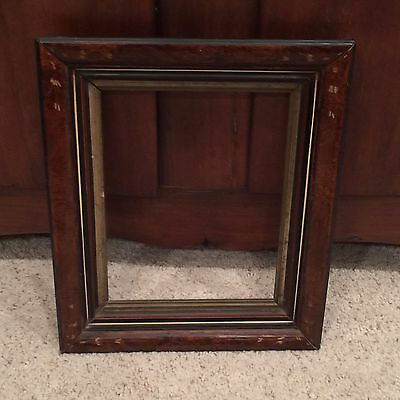 Antique Victorian Multi Layered Wood Frame Gold Trim Etched Accents 11 x 14  A