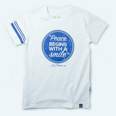 100% Organic Cotton Fair Trade Unisex T-shirt Inspirational Quotes PEACE - Kids