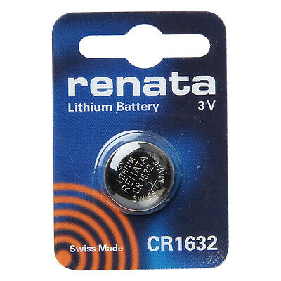renata CR1632 Cell Coin Button Lithium Battery 3V Tag Watch Key x1 Made in swiss