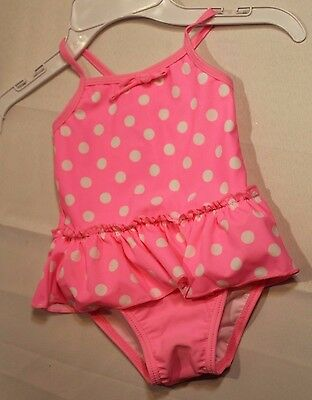 NEW Infant Girls TODDLER  pink Disney Princesses one piece swimsuit T4