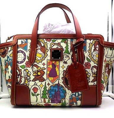 NWT Disney Dooney & Bourke Beauty and the Beast Small Shopper Bag DREAM BIG (A)