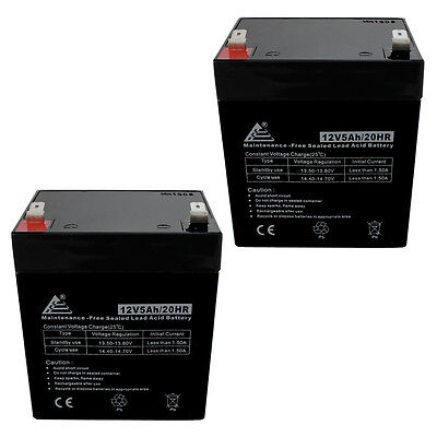 Razor E100 E125 E150 Electric Scooter battery [Set of 2 12V 5AH SLA Batteries]