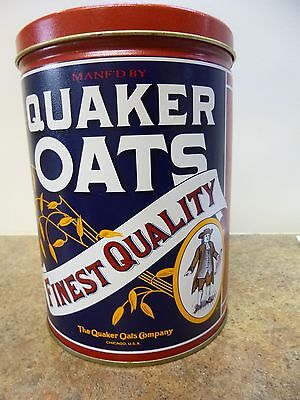 Quaker Oats tin, Limited Edition 1992, 7 inches, SHIPS FREE