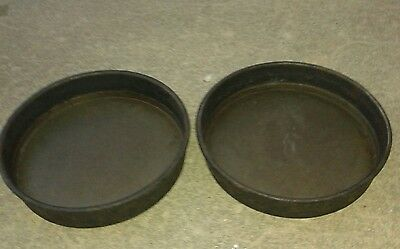 """Set of 2 Commercial Metalcraft Deep Dish 10"""" Pizza Pie Pans Well Seasoned"""