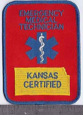 KANSAS CERTIFIED EMERGENCY MEDICAL TECHNICIAN Uniform Patch
