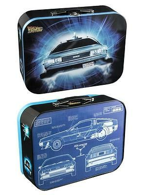 Back to the Future Delorean Tin Collectors Lunchbox  Marty McFly Doc Brown Tote
