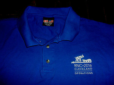 2016 RNC Republican National Convention EmbroideredXL Polo Shirt Cleveland TRUMP