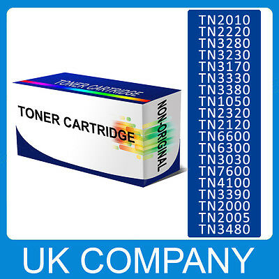Black TONER CARTRIDGE FOR BROTHER TN2220 TN2000 TN2005 TN1050 TN2320 etc.