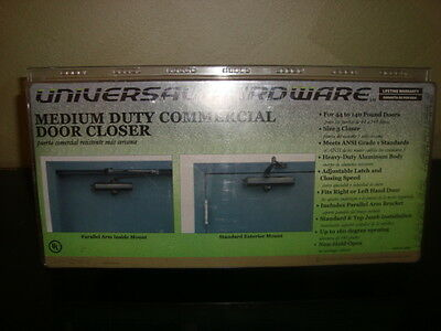 New in box. Universal Hardware Medium Duty Commercial Door Closer Bronze #4052