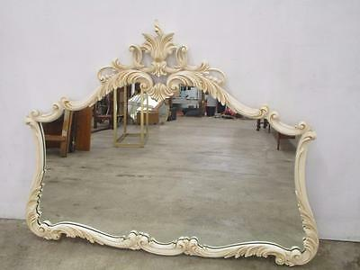 D11018 Beautiful Large French Style White Ornate Carved Framed Mirror