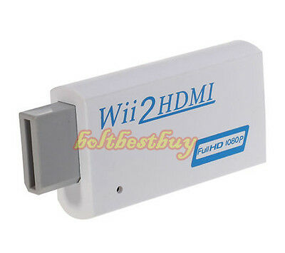 Wii to HDMI 720P or 1080P HD TV Output Upscaling Converter Adapter 3.5mm Audio