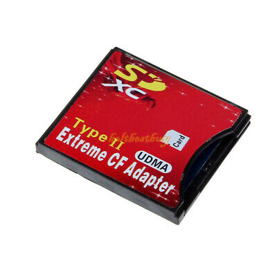 Extreme Compact Flash Card Adapter SDHC SDXC WIFI SD to Type II CF (Up to 64G)