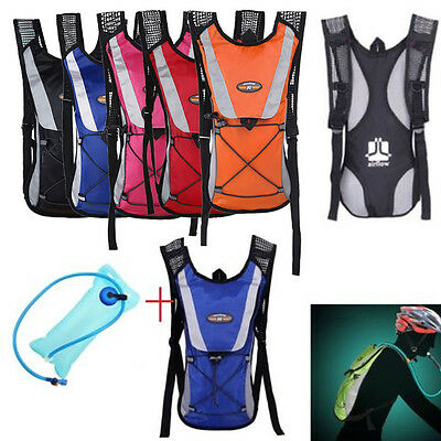 Hydration Pack Water Backpack 2L Bladder Bag Cycling Bicycle Hiking Climbin NSW