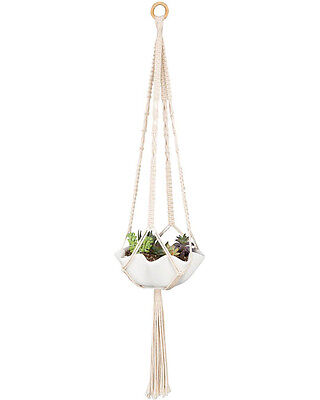 Mkono 2Pcs Mini Macrame Hanging Planter for Succulent Cactus Small Plant 30 Inch
