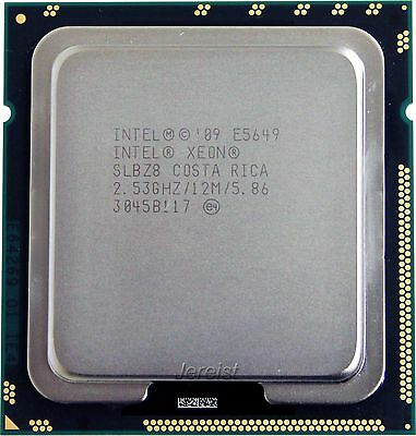 Intel Xeon Six Core E5649 2,53GHz Sockel LGA 1366 12MB 3200MHz Cache SLBZ8