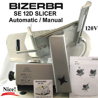 """BIZERBA SE12D 13"""" Automatic / Manual Commercial Deli Butcher Cheese Meat Slicer"""