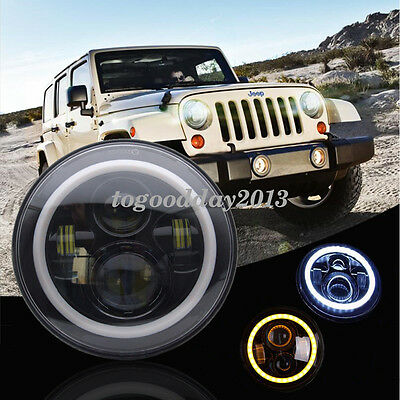 7 inch Yello&White Projector Daymaker Hi/Lo LED Headlight For Jeep JK TJ CHEVY