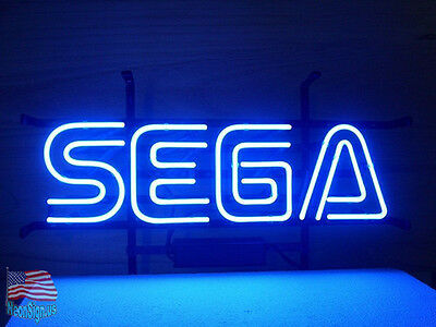 "Sega Game Room Beer Pub Bar Handcrafted Neon Sign 17""x14"" From USA"
