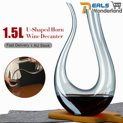 Luxurious Crystal Glass U-shaped Horn Wine Decanter Wine Pourer Wine Container