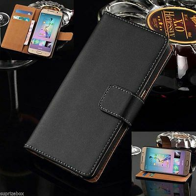 Genuine Real Leather Wallet Flip Case Cover for New Samsung Galaxy S8 S8 Plus