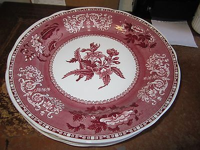 Spode Pink Camilla 6 x 23 Cm  Plates Mint Condition
