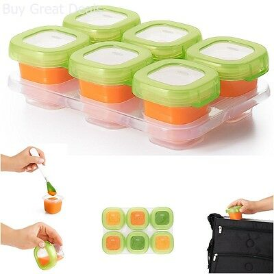 Baby Feeding Food Freezer Storage Containers 6 Blocks Safe Convenient Cook New