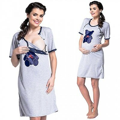 Zeta Ville - Women's Maternity Nursing Nightdress Breastfeeding Nightie - 515c