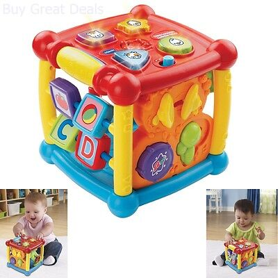 New VTech Alphabet Activity Cubes Cube Infant Toddler Learning Baby Toy Toys