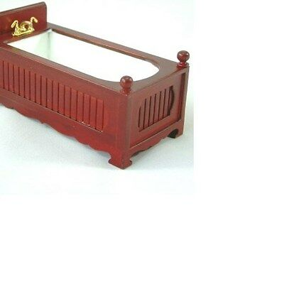 Dolls House 12th scale Bathroom Jiayi Mahogany Bath tub