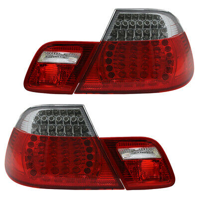 LED Rückleuchten Heckleuchten Set BMW 3er E46 Coupe Bj. 99-03 Rot/Chrom
