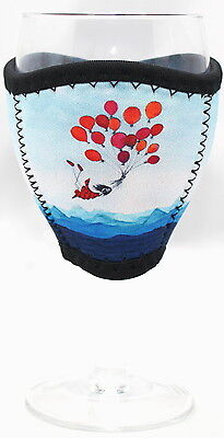 Imagine Ellie Neoprene Wine Glass Cooler Balloons