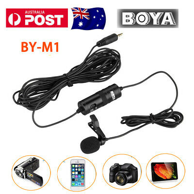 BOYA BY-M1 Lavalier Microphone for iPhone 7 Samsung S7 HTC DSLR Cam Canon Nikon