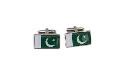 Pakistan Flag Cufflinks with free organza pouch