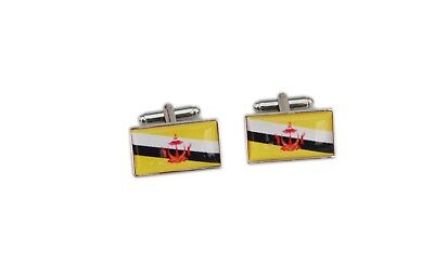 Brunei Flag Cufflinks with free organza pouch