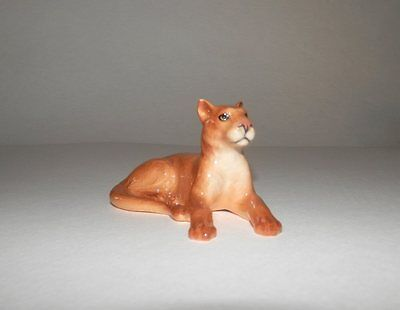 Retired Hagen-Renaker Mountain Lion Lying Mint Condition