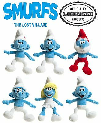 """Smurfs The Lost Village 8"""" Character Teddy Soft Kids Toy Official Merchandise"""