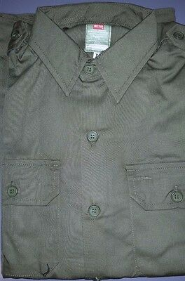 AUSTRALIAN ARMY GREEN SHIRT VIETNAM WAR - REPRO NEW MADE Large size