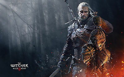 The Witcher 3 Wild Hunt Hot Game Art Silk Poster 24x36 inch