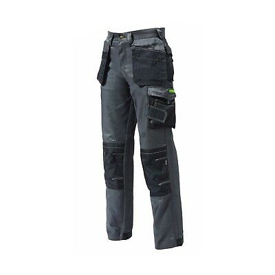 Apache Twill Cargo Workwear Cordura Trousers Kneepad Holster Pockets Grey