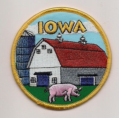 The State Of Iowa Souvenir Patch -