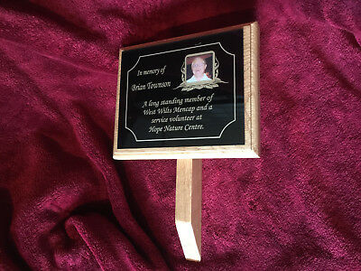 Large Oak Wooden Memorial Grave Tree Marker Personalised & Made to Order