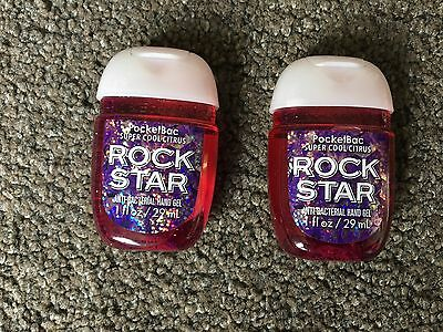 Bath & Body Works 2x Anti-Bacterial Hand Gel USA Exc Super Cool Citrus Rock Star