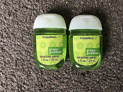 Bath & Body Works 2x Anti-Bacterial Hand Gel USA Exclusive Green Goddess