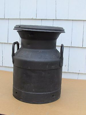 """Vintage milk can Cream can 15"""" tall Black Shorty"""