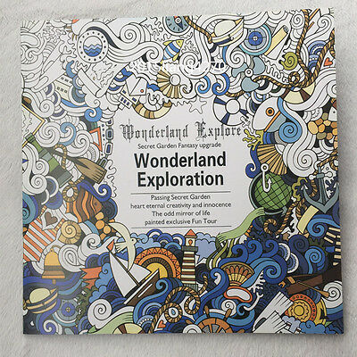 English Children Secret Garden Wonderland Explore Treasure Hunt Coloring Book