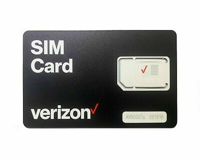 Verizon NANO SIM Card 4FF 4G LTE  FITS ALL PHONES USING NANO SIZE PRE/POST PAID