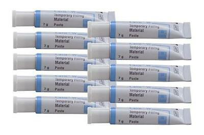 CAVIT WHITE 3M ESPE 10 TUBE x 7 gr EACH. DENTAL TEMPORARY FILLING MATERIAL.