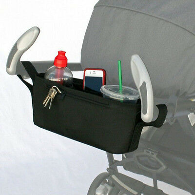 Buggy Stroller Pram Puschair Parent Tray Organizer bag Double Cup Holder Tidy