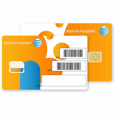 At&t Nano Sim Card 4Ff New Good For Activation Or Bypass All Phones Using Nano